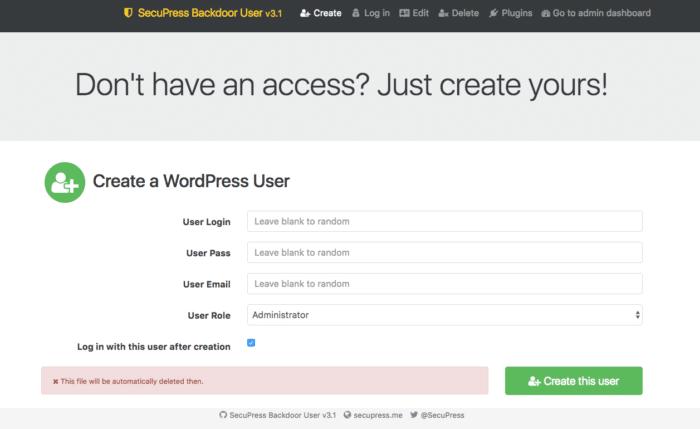 Backdoor User